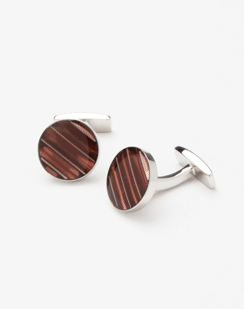 8a76fa806470e Hugo Boss Chevron Enamel Cufflinks